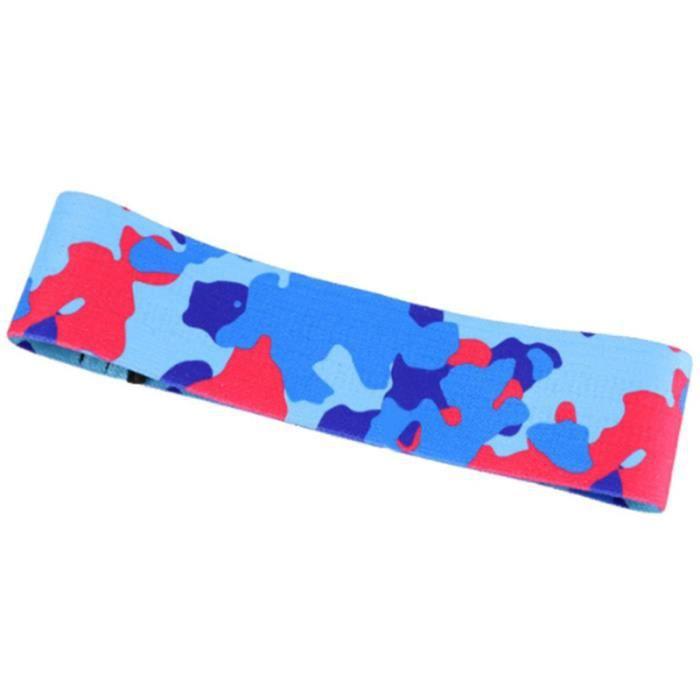 Latex Slip Coton RéSistance Bandes Butin Bandes ÉLastiques Exercice pour Cuisse Hanches Glutes Pont Fitness Camouflage Bleu