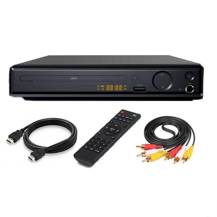 SURENHAP Lecteur DVD 4K UHD 1080P pour TV DVD / SVCD / CD / VCD haute définition, avec câble AV HDMI - 4s5fs