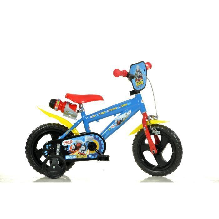 Velò Enfant Sans Frein Dino Bikes Thomas Et Ses Amis 12 Pouces Stabilisateurs Porte-bidon Bleu