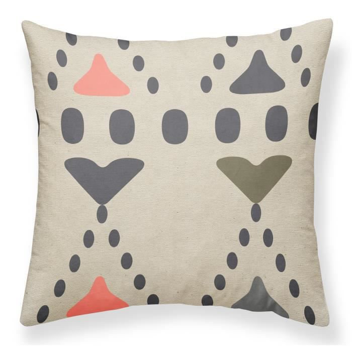 TODAY Coussin Canvas Hippie Chic - 40x40 cm - Motif : imprimé