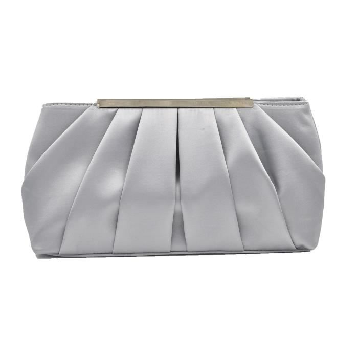 Evening Clutch Crossbody Purses Party Bags Wedding Pleated Formal Handbag P2ALB