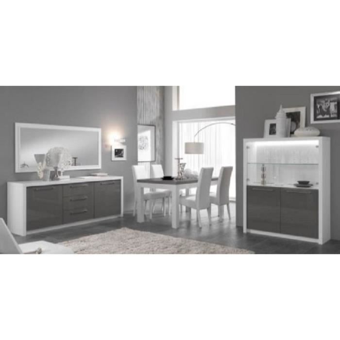 salle manger compl te fano blanc gris achat vente salle manger salle manger compl te. Black Bedroom Furniture Sets. Home Design Ideas