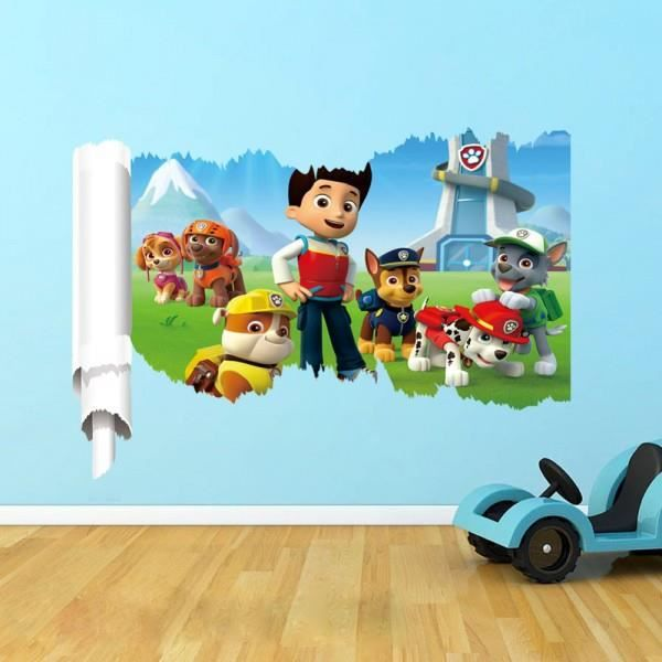sticker mural pat patrouille achat vente stickers soldes cdiscount. Black Bedroom Furniture Sets. Home Design Ideas