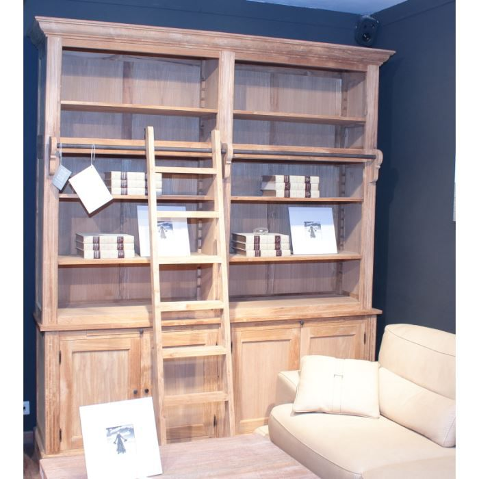 biblioth que teck massif avec chelle 39 caracas 39 achat vente biblioth que biblioth que teck. Black Bedroom Furniture Sets. Home Design Ideas