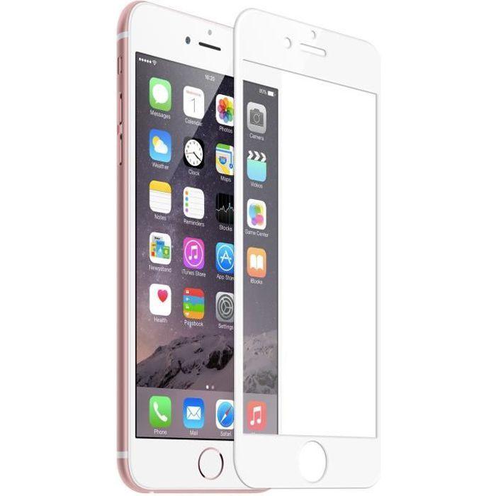 Film vitre de protection écran en verre trempé pour téléphone mobile iPhone 6-6S