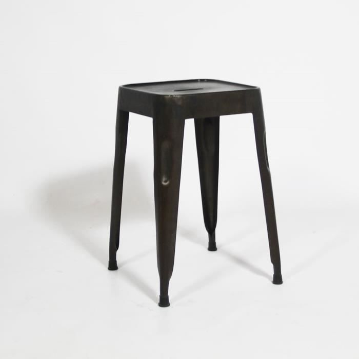 tabouret m tal depot noir achat vente tabouret m tal. Black Bedroom Furniture Sets. Home Design Ideas