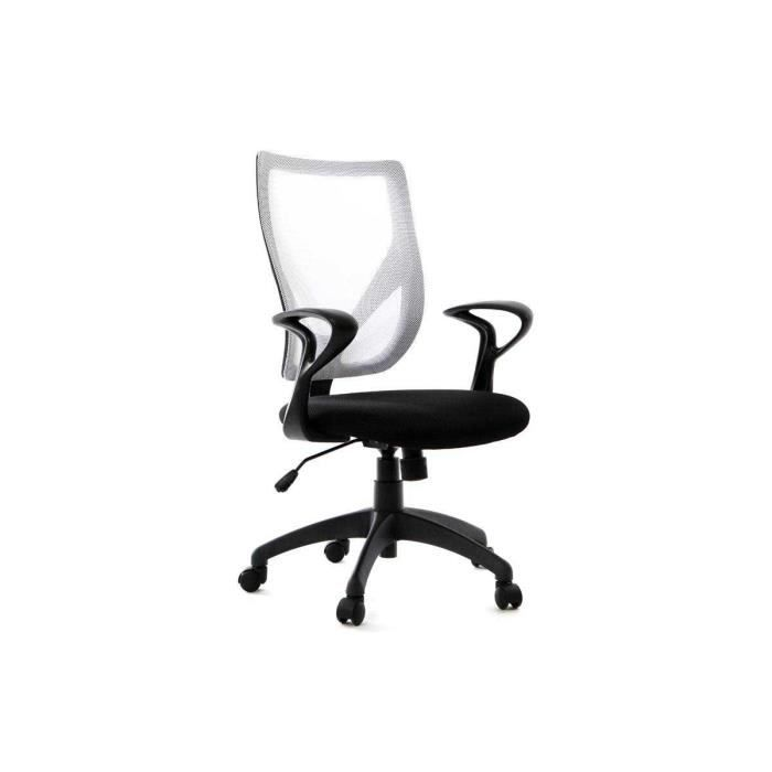 miliboo fauteuil de bureau design blanc et no achat vente chaise de bureau blanc cdiscount. Black Bedroom Furniture Sets. Home Design Ideas