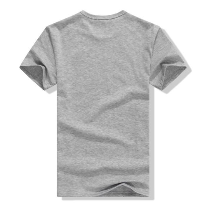 Loup impression sur t shirt moulant homme t 39 sh gris - Impression photo sur tee shirt ...