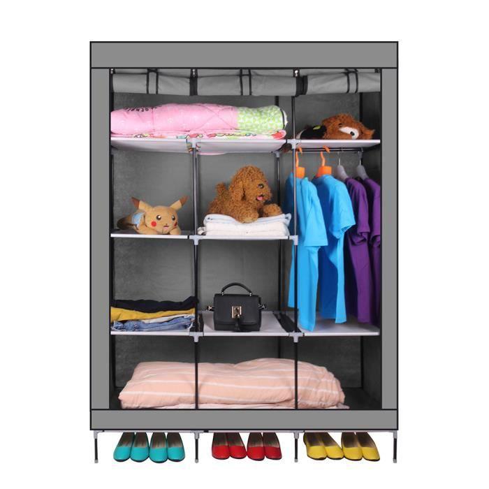 ARMOIRE Armoire Toile Armoire Vêtements Rangement Organisa