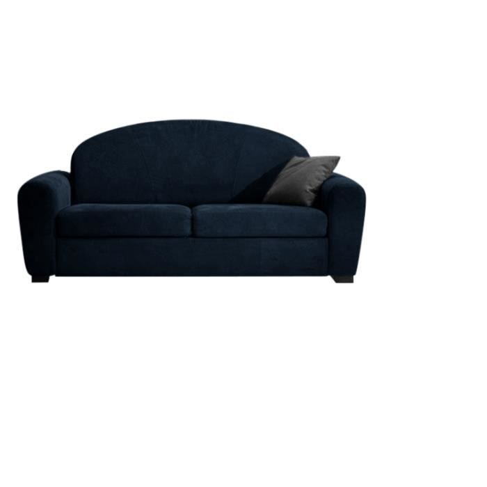canap convertible 120x190 club microfibre bleu achat vente canap sofa divan microfibre. Black Bedroom Furniture Sets. Home Design Ideas