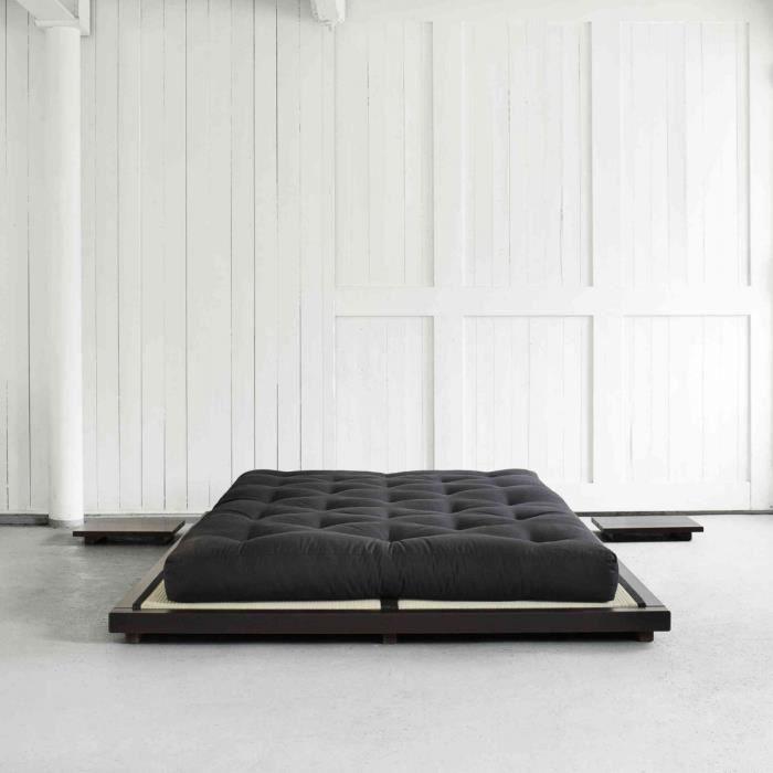 STRUCTURE DE LIT Lit futon style japonais en bois massif coloris no
