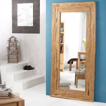 miroir river teck 200x100 achat vente miroir cdiscount. Black Bedroom Furniture Sets. Home Design Ideas