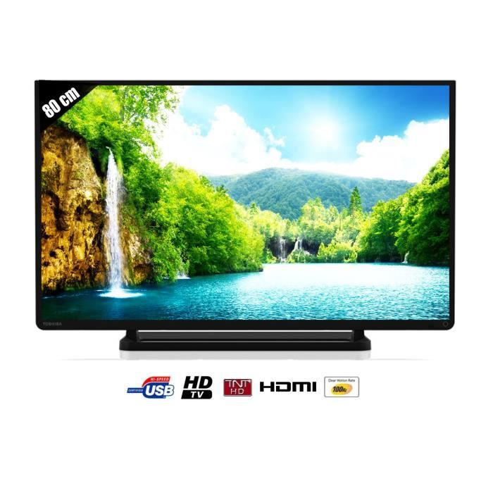 toshiba tv led 32 39 39 80cm hdtv 2hdmi usb achat. Black Bedroom Furniture Sets. Home Design Ideas