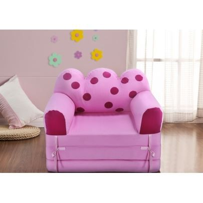 chauffeuse tissu pour enfant cocci rose rose achat. Black Bedroom Furniture Sets. Home Design Ideas