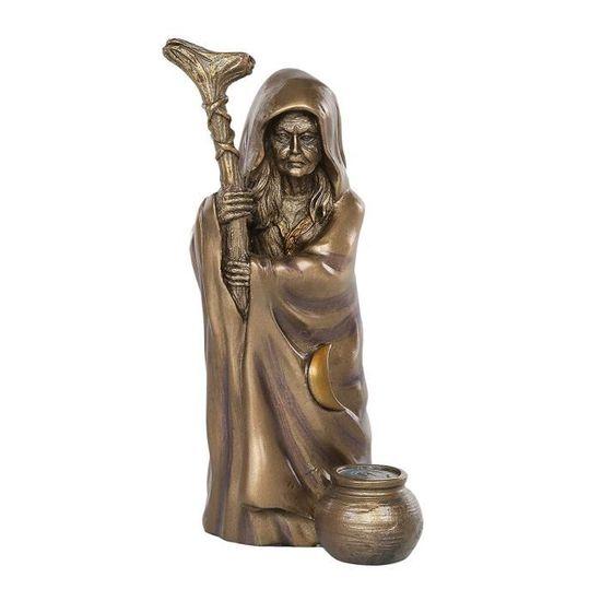 Sarimoire Autel Tarot Tissu Triple D/éesse 3 pi/èces 7 en fonte froide statues en bronze Lune triple autel pentacle pendentif Kit