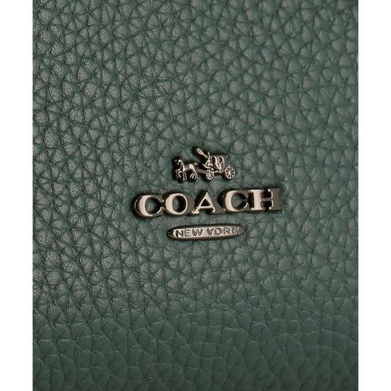 Coach Femme À 56839dkdarkturquoise Sac Main Cuir Vert b7yvYgf6