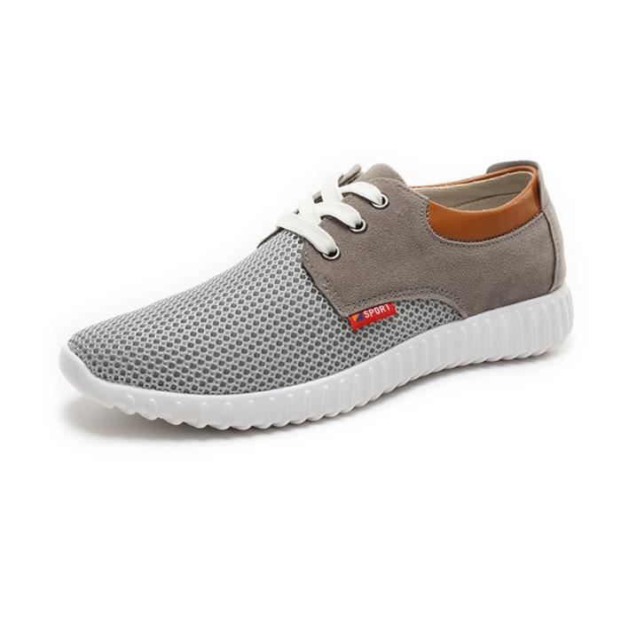 Mode Baskets Femme Chaussures de sport Air-6 Gris