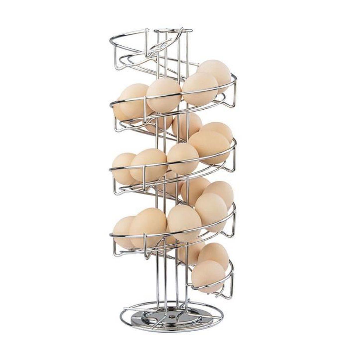 GRIS blanc en bois Oeuf meuble maison 12 Oeufs Titulaire Pays Cuisine Cadeau
