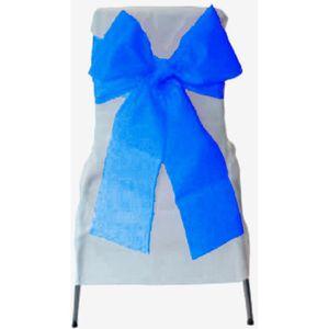 TULLE - NOEUD - RUBAN 6 Noeuds de chaise bleu roi organza 275 x 18 cm