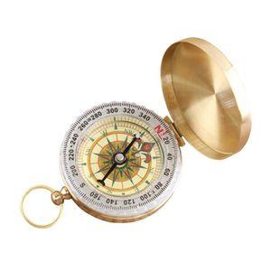 Natuce Compas De Poche Portables Compacte De Style Classique Brass Metal Camping Randonn/éE Compagne Outils De Navigation Ext/éRieure Or