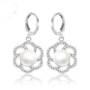 Boucle d'oreille Boucles d'oreilles perle Beau cadeau 18k blanc pla
