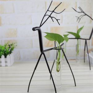 VASE - SOLIFLORE Vase Tube créatif avec fer Elk Porte-bonsaï Vase d