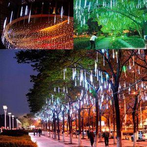 Meteor Shower Rain Tubes LED pour mariage Jardin Décoration de Noël