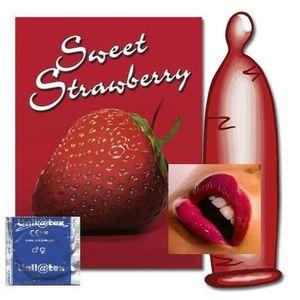 PRÉSERVATIF 7200 préservatifs/preservatif/condom fraise unilat