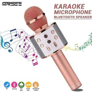 MICROPHONE Microphone Sans Fil Karaoké Portable Bluetooth ave
