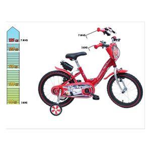VÉLO ENFANT DISNEY Vélo enfant évolutif 14/16'' - Cars - Rouge