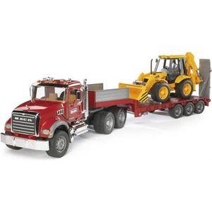 VOITURE - CAMION BRUDER - 02813 - Camion de transport MACK avec tra