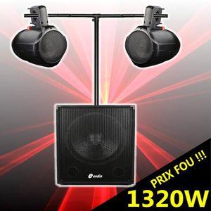 PACK SONO CUBE 1512 Pack Amplifié 1320W avec Caisson Amplifi