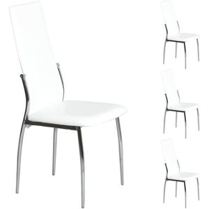 chaise bistrot blanche - achat / vente chaise bistrot blanche pas ... - Chaise De Cuisine Blanche