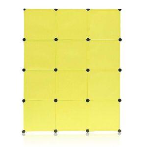 ARMOIRE DE CHAMBRE Armoire Penderie 12 Cubes Storage Modulable Meuble