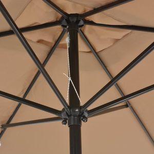PARASOL Parasol avec mât en métal 300 x 200 cm Taupe