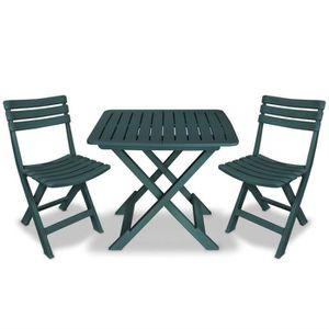Table et chaise de jardin plastique 2 place(s) - Achat ...