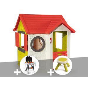 MAISONNETTE EXTÉRIEURE Cabane enfant My House - Smoby + Plancha + Taboure
