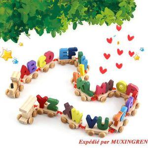 BOÎTE À FORME - GIGOGNE Ensemble de train en bois Alphabet Lettres en bois