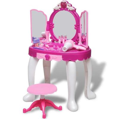 Jouet dimitation Inside Out Toys Coiffeuse pour Enfant Nombreux Accessoires