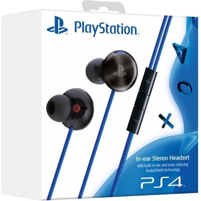 ecouteur sony intra auriculaire ps4 ps vita achat vente casque micro console ecoute intra. Black Bedroom Furniture Sets. Home Design Ideas