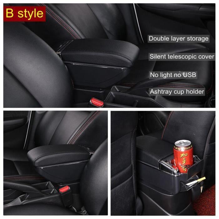 Accoudoir Central universel pour voiture Opel Corsa D, boîte de rangement, porte-gobelet, cendrier, accessoires de [B0E85A1]