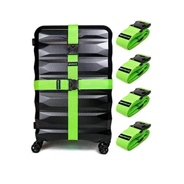 Bracelet De Montre Vendu Seul LGMJL 4-Pack Ceintures sangles bagages pour garder votre valise sécurisée tout en voyageant, Accessoir