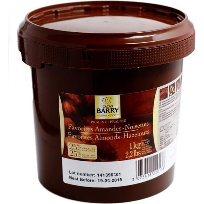 Praliné amande noisette pot de 1 kg Barry