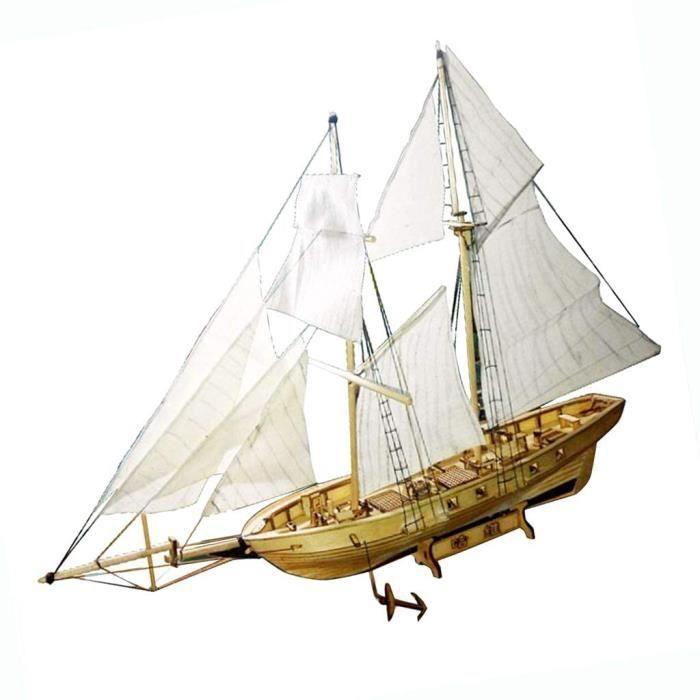 Kits de modélisme de bateaux Hellery Bois Nautique Maquette de Voilier Bateau À Voile Cadeau Décoration Améliorer Capaci 92033