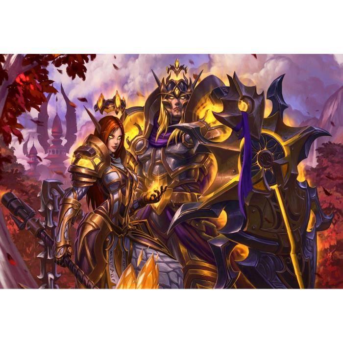 ZLB51 5D DIY -World of Warcraft-Peinture au diamant, taille de décoration artisanale en mosaïque de diamant rond: 40x50CM
