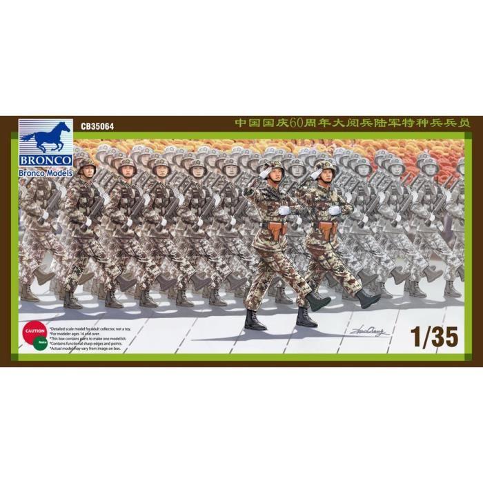 Maquette Militaire 1-35 Soldat Force spéciale PLA sur le défilé de la Journée nationale CB35064