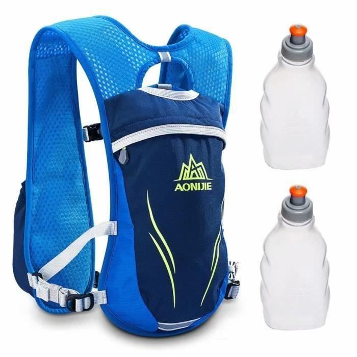 Geila En plein air Sport Piste Marathoner Fonctionnement Course Hydratation Gilet Pack Sac à dos avec 2 Eau Bouteilles