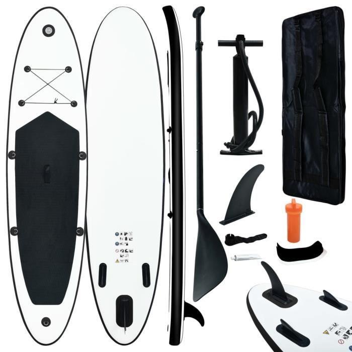 Soldes ®2786Super Ensemble de planches SUP gonflables - Stand up paddle gonflable Professionnel Aqua Marina Noir et blanc