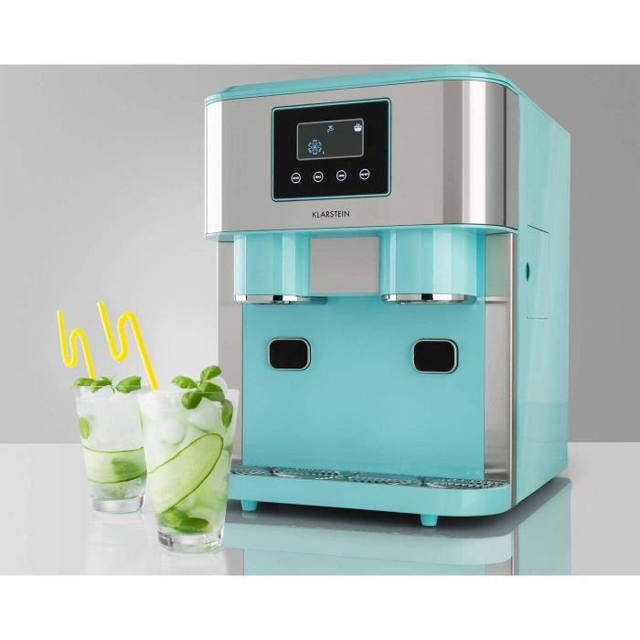 KLARSTEIN Eiszeit Crush - Machine à gla&ccedilons 3 en 1: gla&ccedilons, glace pil&eacutee, eau glac&eacutee, 2 taill12