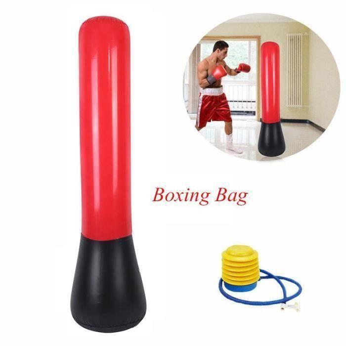 160cm Sac de Frappe Gonflable Punching-Ball Boxe en PVC + Pump MC19278